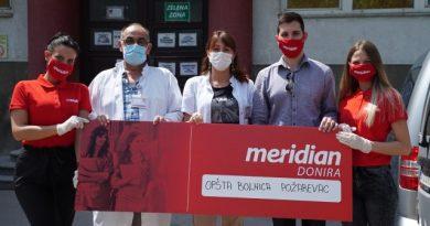 Još jedna u nizu humanitarnih akcija kompanije Meridianbet – Stigla neophodna pomoć za kovid bolnicu u Požarevcu